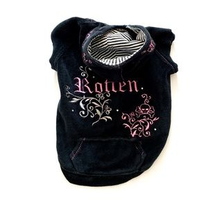Embroidered Black/Pink Hoodie w/ Pocket Smallbreed